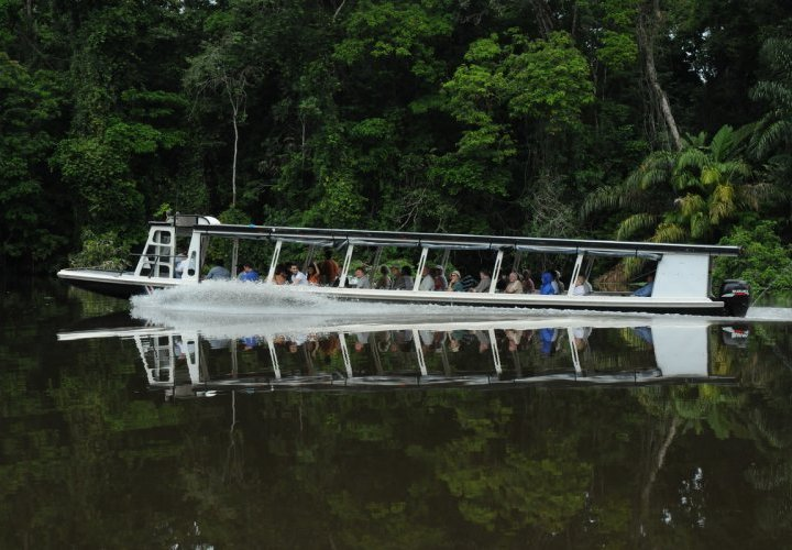 Boat tour through the channels of Tortuguero National Park