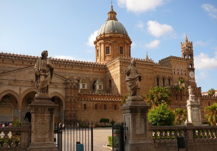 Arrival in Palermo, Italy