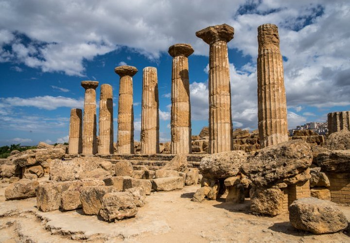 Visit of Agrigento - important Greek colony with remarkable Doric temples