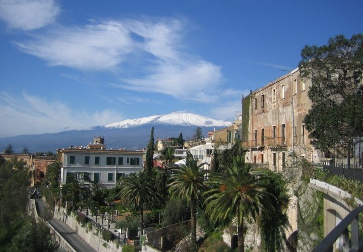 Hiking up Mount Etna, Europe's most active volcano and visit of Taormina