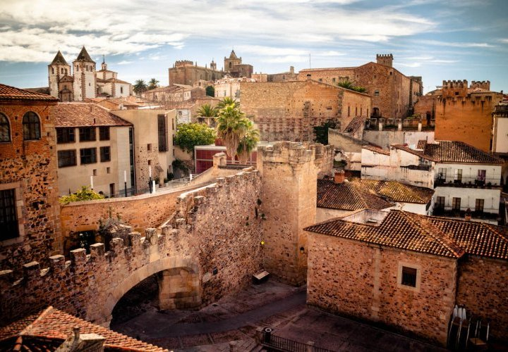 Visit of the Old Town of Caceres, declared a World Heritage site by UNESCO