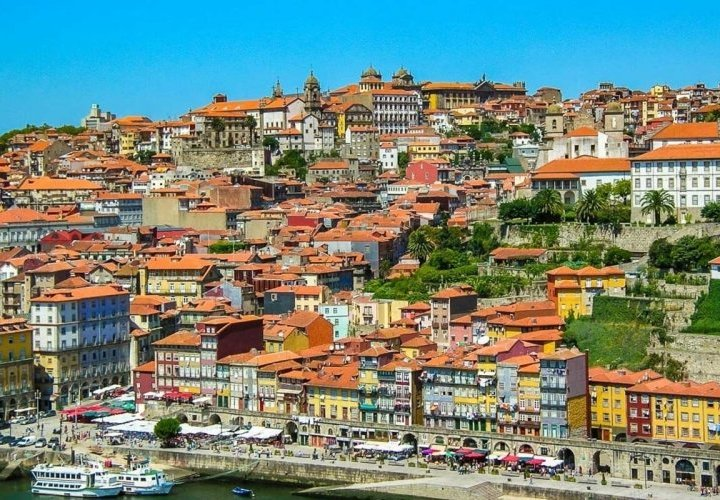 Travel to Portugal and guided tour of the city of Porto
